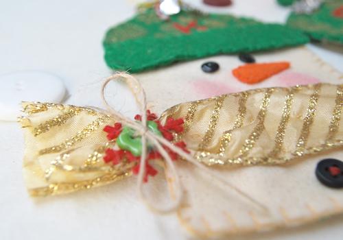 HHC: felt snowman gift card holder cu2