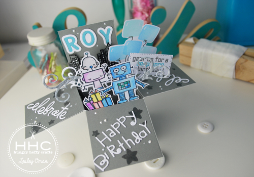 Roys Robot Exploding Box Birthday Card – Birthday Cards in a Box
